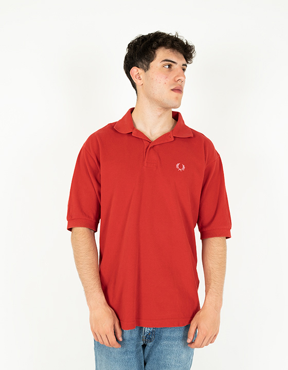 Polo Vintage Fred Perry Rojo